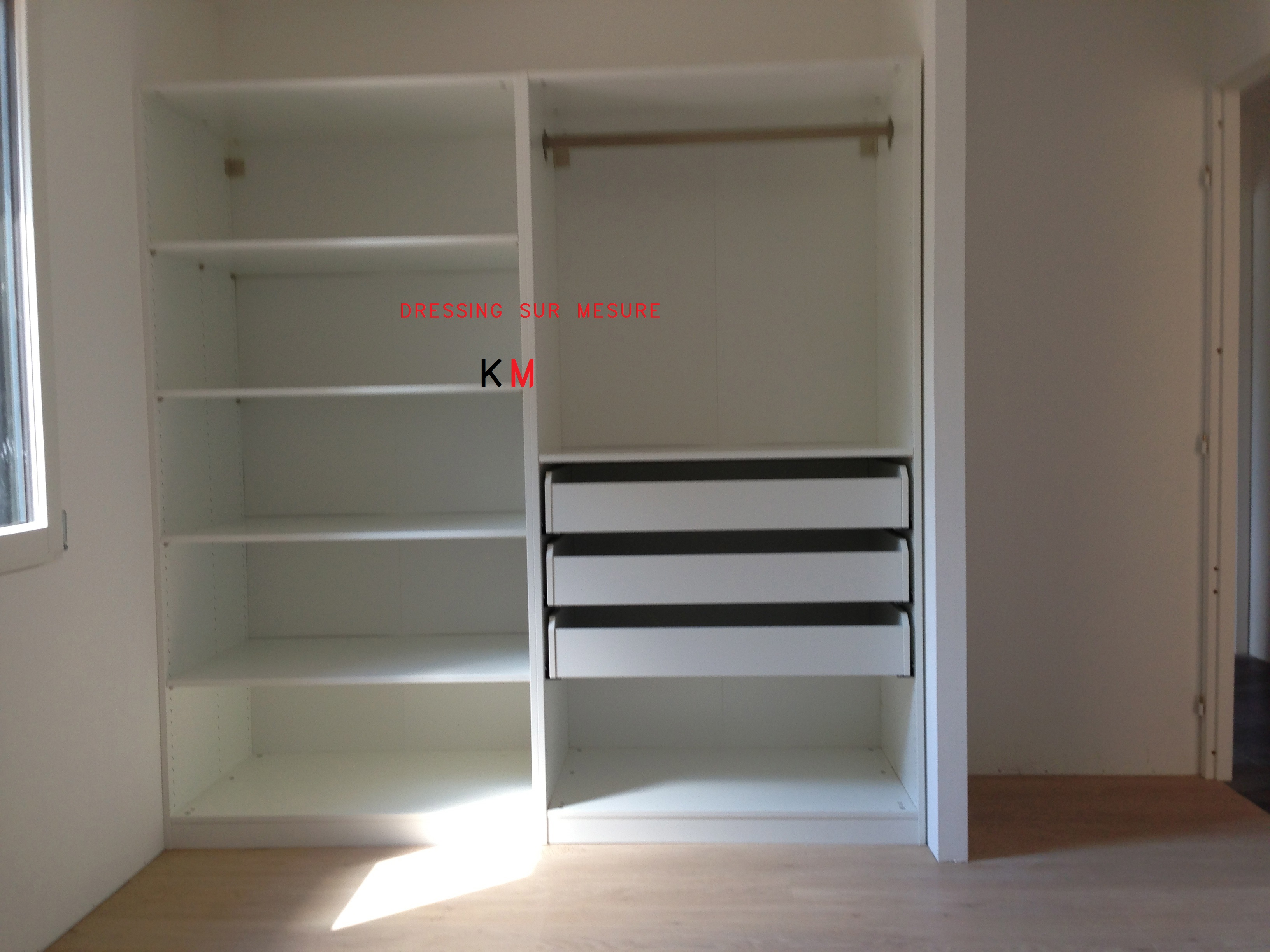 creer dressing pas cher elegant caisson h x l cm progress. Black Bedroom Furniture Sets. Home Design Ideas